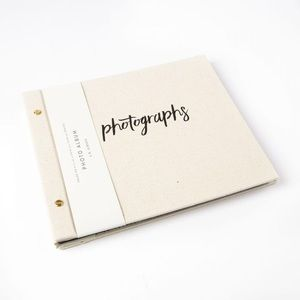 Inked Fabric Photo Album